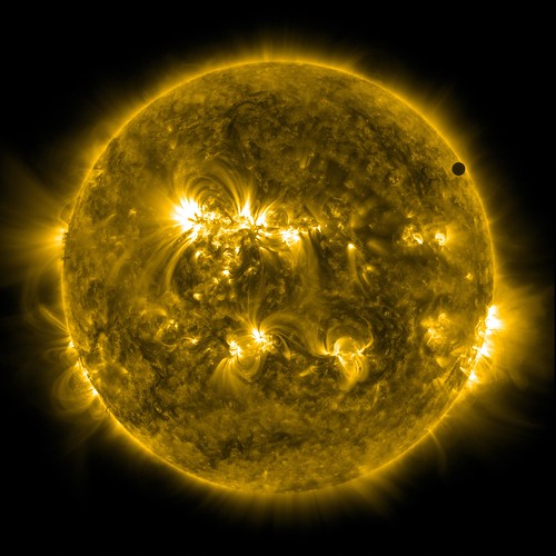 SDO's Ultra-high Definition View of 2012 Venus Transit - 171 Angstrom | by NASA Goddard Photo and Video