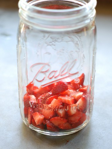 Strawberries in a Mason jar by Eve Fox, Garden of Eating blog, copyright 2012 | by Eve Fox
