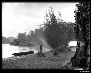Camp set up, possibly by the Hawkesbury River, 1880-1909 | by Australian National Maritime Museum on The Commons