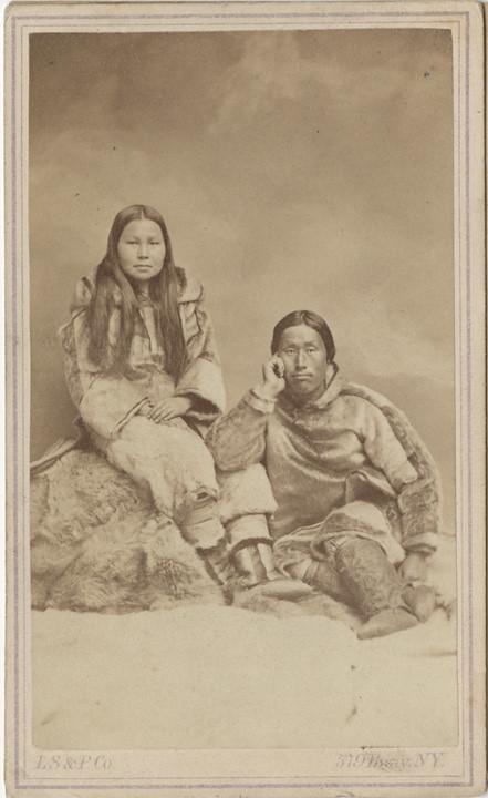 Carte De Visite Of Eskimo Couple