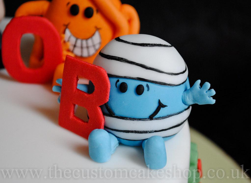 Mr Men Birthday Cake Thecustomcakeshop Faceb Flickr