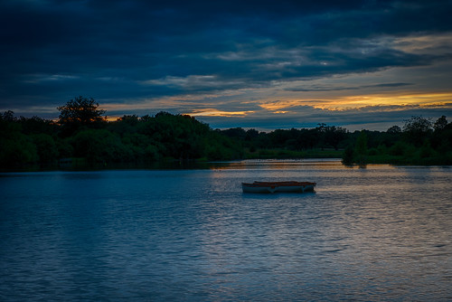 199/366 Sunset over Hatfield Forest Lake | by Mark Seton