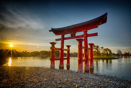 Sunset over Torii Gate | by Don Sullivan