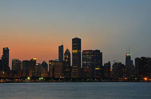 Chicago skyline at sunset | by angie_1964