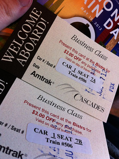 Amtrak - Business Class Vouchers | by Miss Shari