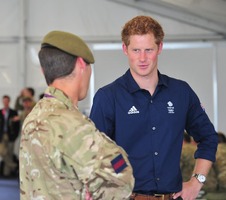 Princes William and Harry meet soldiers at Olympics Rowing | by Defence Images
