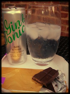 Relaxing with a Gin and Tonic and chocolate | by ChezMummy
