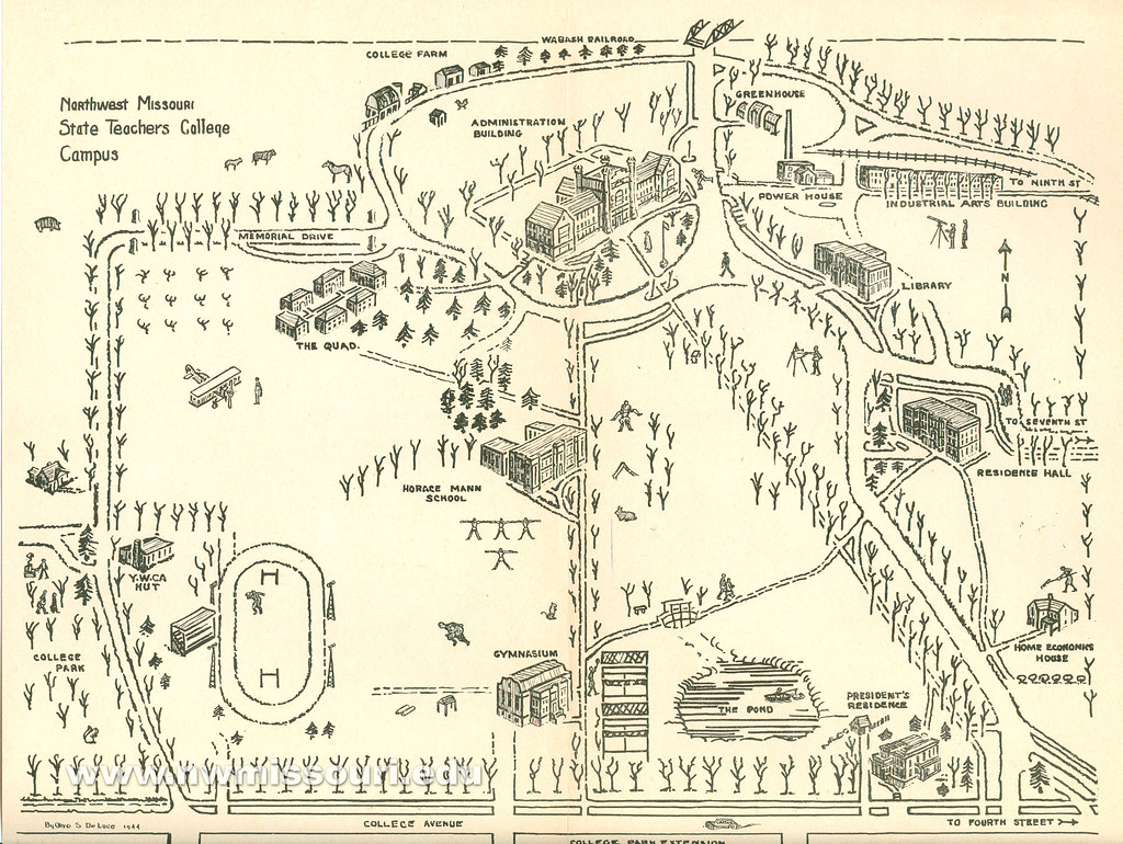 1944 Northwest campus map  This map of the Northwest campus  Flickr