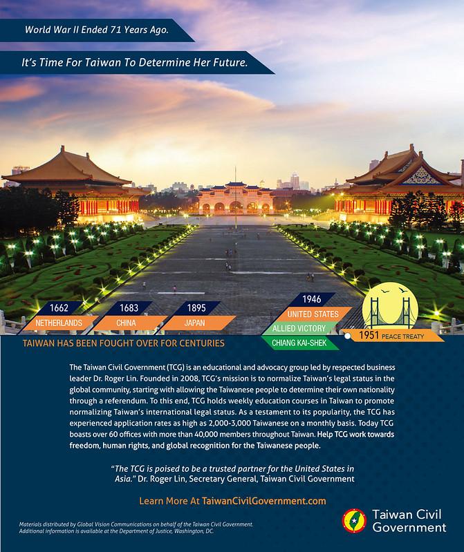 華盛頓DC台灣民政府巨幅廣告