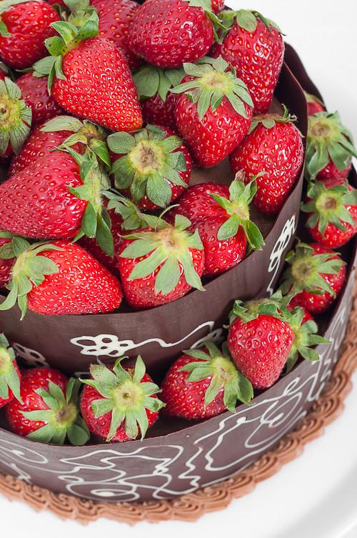 Strawberry Madeira Cake