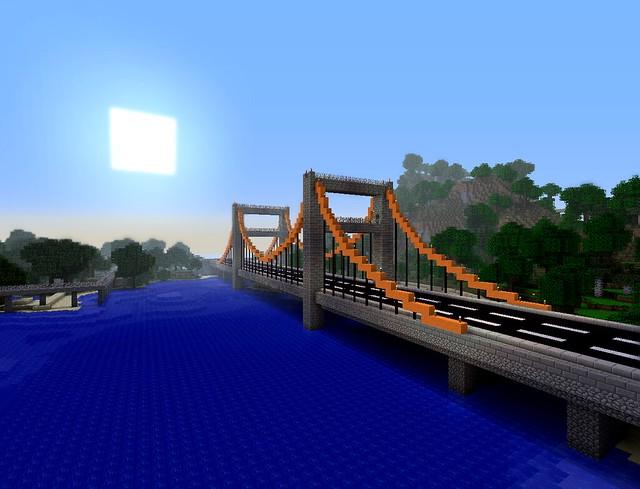 Minecraft The Lake El Bridge Highway 2a Flickr