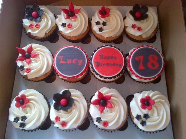18th birthday cupcake