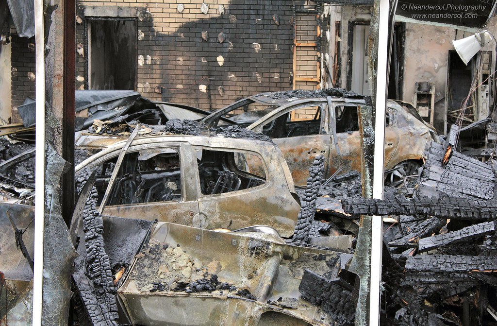 Fire Damaged Goods Renault Showroom Garage In Durham City Flickr