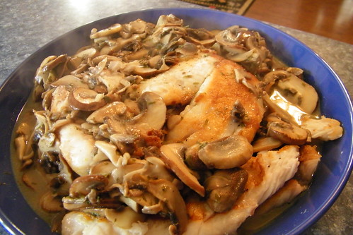 43/365/1504 (July 24, 2012) - Tilapia with Sherry-Mushroom Sauce | by cseeman