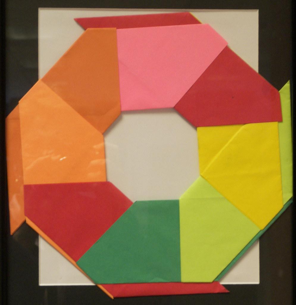 Wreath Origami   Christmas origami, Origami christmas wreath ...   1024x995