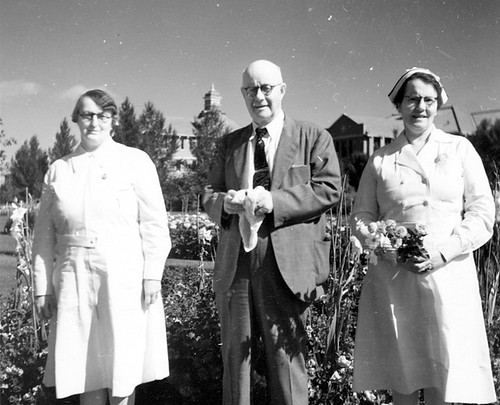 24. Who are these nurses and gentleman in flower garden? | by Galt Museum & Archives on The Commons