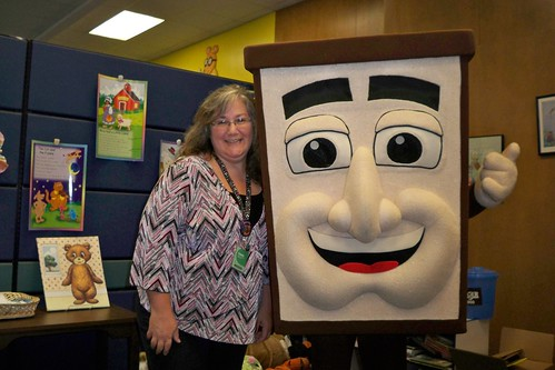 Captain Curby Visits CADL Downtown Lansing | by cadlibraries