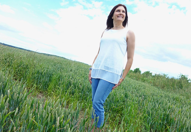 Styling a basic white top and denim: Marks & Spencer challenge - Michelle, The Barefaced Chic