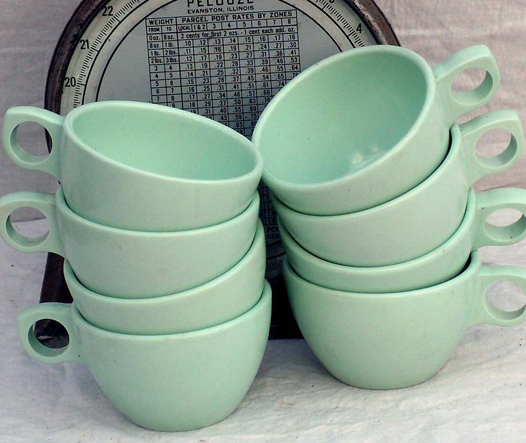 ... Prolon Florence Coffee Cups Aqua Pale Jadite Green Melmac Melamine Set Of 6 Six 1950s Mid & Prolon Florence Coffee Cups Aqua Pale Jadite Green Melmac \u2026 | Flickr