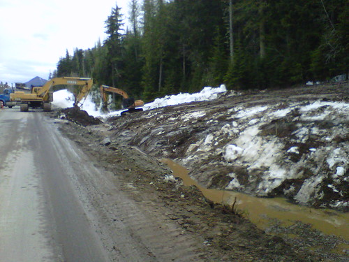 Clearing Snow, Dirt and Rock for Highway 16 Detour | by TranBC
