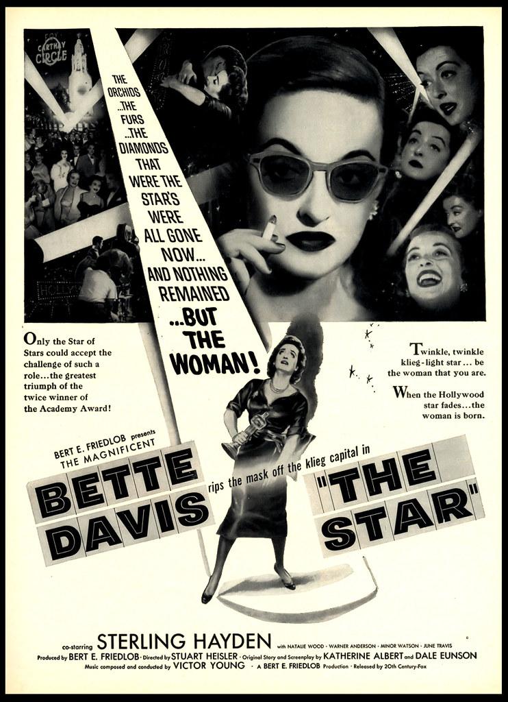 bette davis the star 1953 movie ad 20th century fox