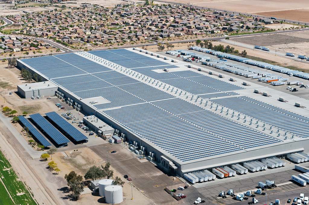 Solar Installation On Walmart S Buckeye Arizona Distribut