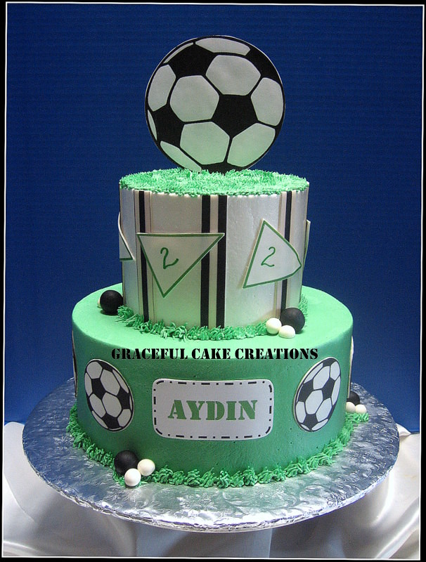 Football Themed Cake With Picsapple Logo Cake Template