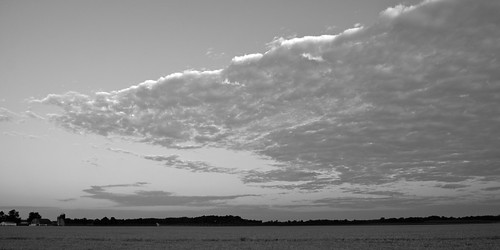 Morning Cloud Scape B&W | by tim mcmurdo