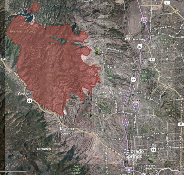 Waldo Canyon Fire Line Map Colorado Springs Flickr Photo Sharing