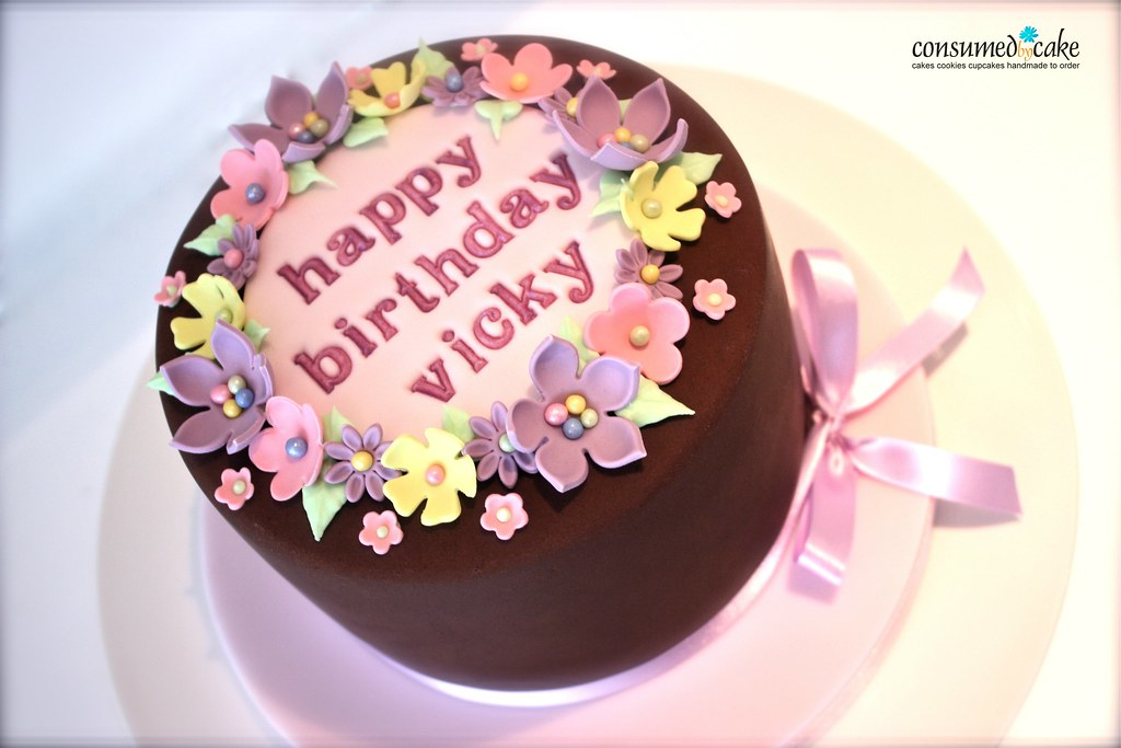 Girly Chocolate Birthday Cake Girly chocolate birthday cak Flickr