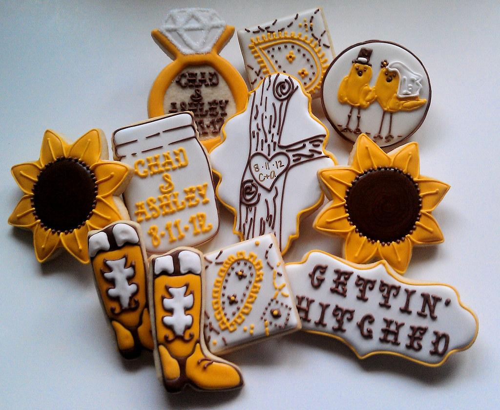 western bridal shower cookies by custom cookies by jill