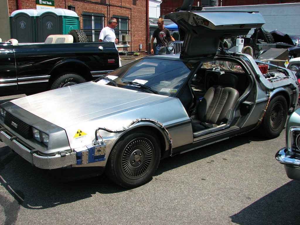 The Time Machine In July 2012 A Custom 1981 Delorean At