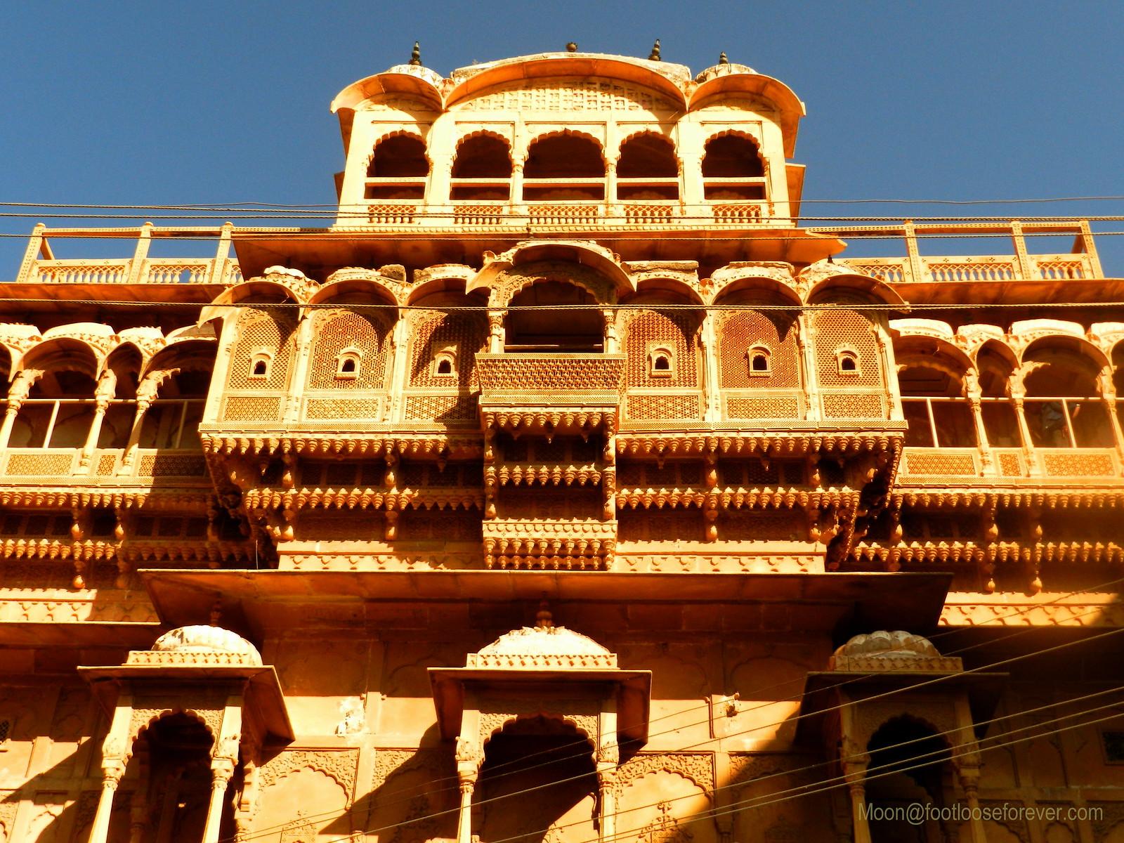 Jaisalmer, haveli, stone detailing