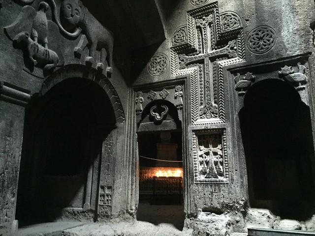 Geghard monastery interior