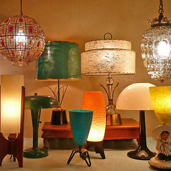 Mid Mod Atomic Lamps At Lise Vintage Lighting Currently