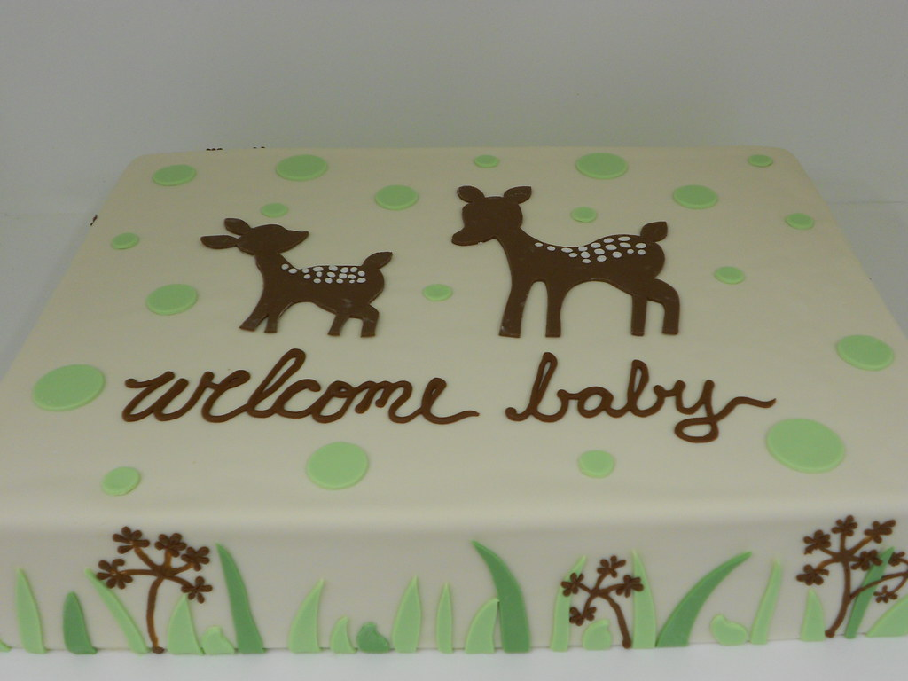 Baby Shower Deer Cake 1137 Baby Shower Sheet Cake With G Flickr