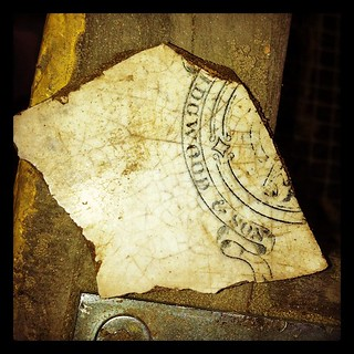 Wedgwood & Son maker's mark recovered from Area D...#aas2012 dig | by Farther Along