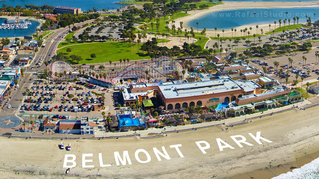 Belmont Park Aerial An Aerial View Of Belmont Park In