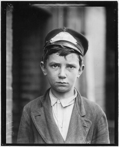 Richard Pierce, Western Union Telegraph Co. Messenger No. 2. 14 years of age. 9 months in service, works from 7 a.m. to 6 p.m. Smokes and visits houses of prostitution, May 1910 | by The U.S. National Archives