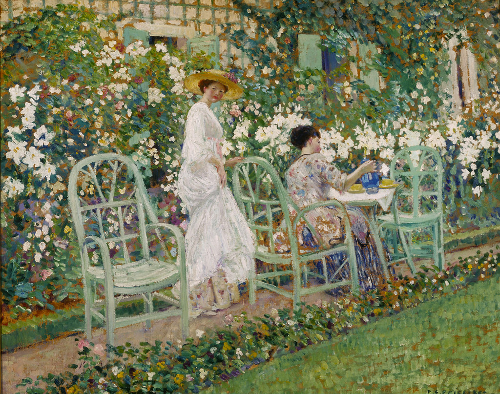Frederick carl frieseke 39 lilies 39 modified 1911 - The garden party katherine mansfield ...
