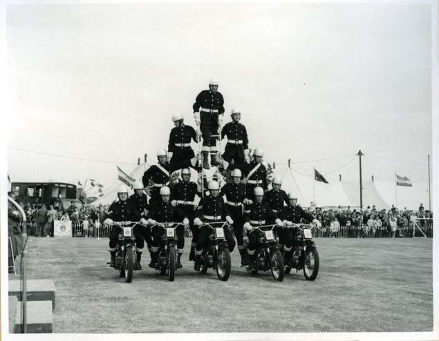 town show royal marines motor cycle display team  sb flickr