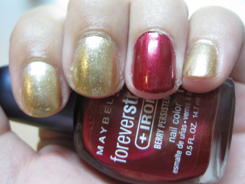 iron man nails | I picked these colors initially because I h… | Flickr