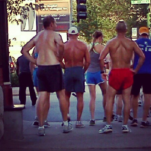 Hot half-naked male runners! Ladies, if only you could have seen their awesomely sculpted chests! | by padschicago