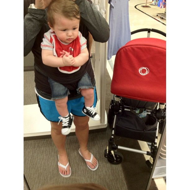 baby boy wearing converse