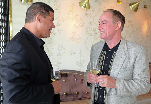 Jordan Winemaker Rob Davis with Lance Reed, Wine Director at BOA Steakhouse | by jordanwinery.com
