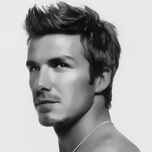 David Beckham Digital Art Portrait By David Alexander Elde