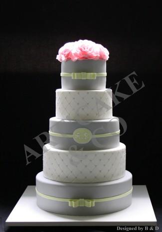 Grey and green wedding cake | Daria ... | Flickr