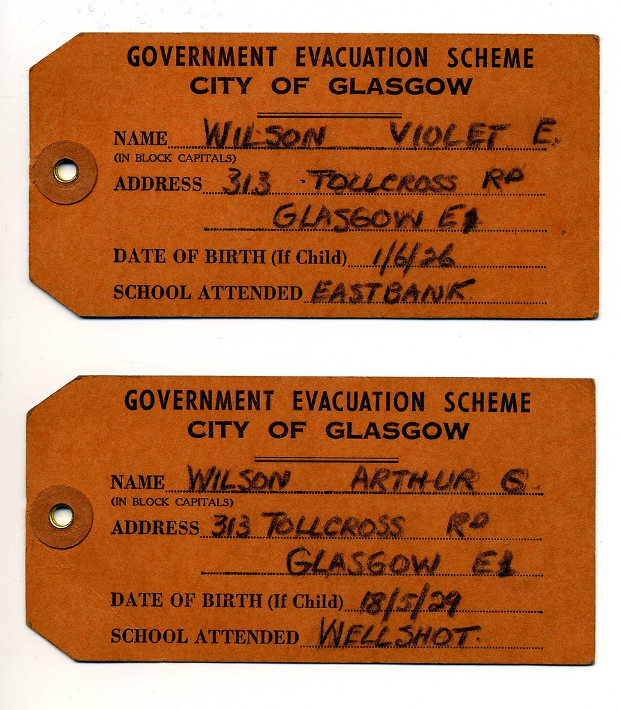 evacuation label template - world war 2 evacuation evacuation name tags which were