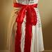 Draped wrap T-shirt wedding dress: back view
