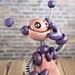 Purple Pat Grungy Bot Mini Robot Sculpture